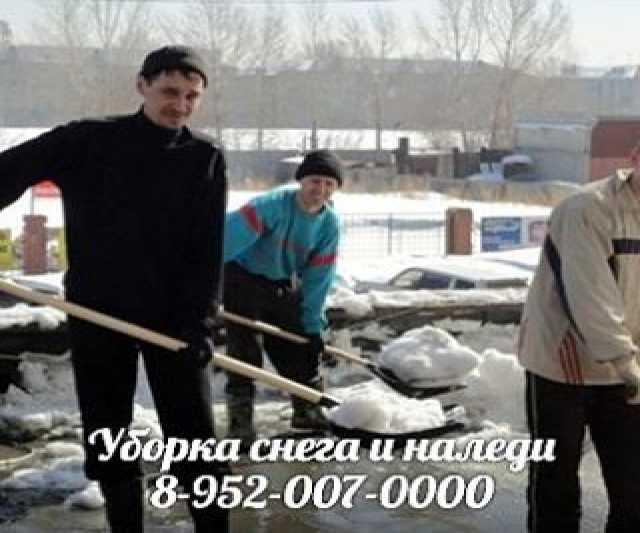 Предложение: Уборка снега,чистка территории от наледи
