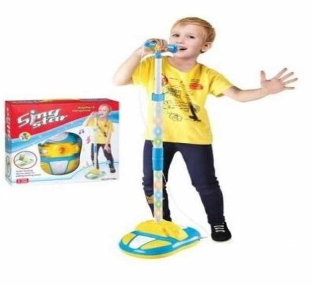 Продам Детский микрофон на стойке, свет, № HT178A