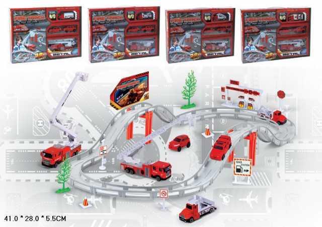 Продам Автотрек Пожарная станция, Fire Track, № CM557-12