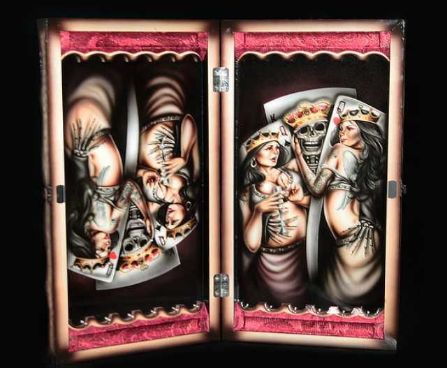 Продам  нарды ручной работы «Объятия смерти»