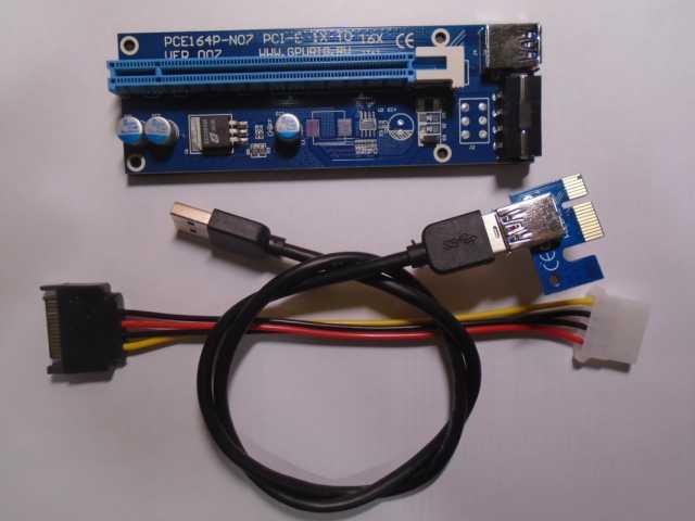 Продам: Райзер(riser) USB3.0 4pin(molex) 60см.