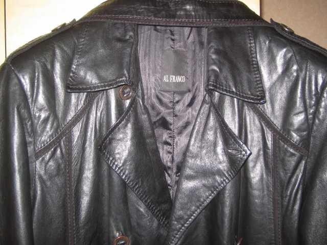 Продам плащ кожаный