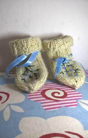 Продам Детские носки вязаные из шерсти