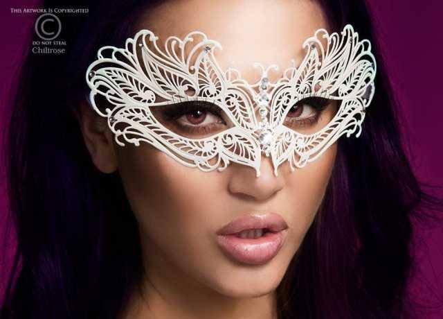 Продам Изысканная белая карнавальная маска