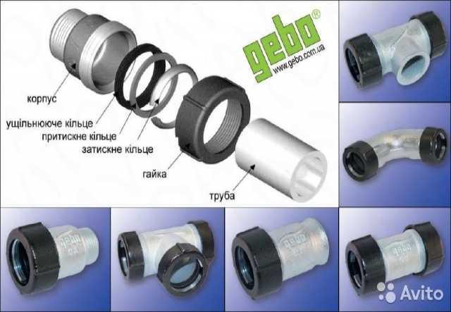 Продам Обжимные трубные соединения GEBO