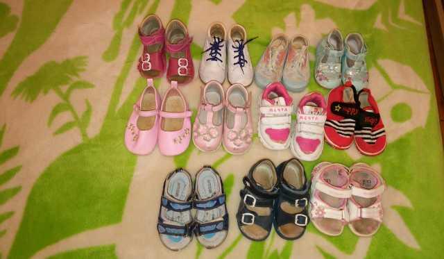 Продам Летняя детская обувь пакетом и по отдел.