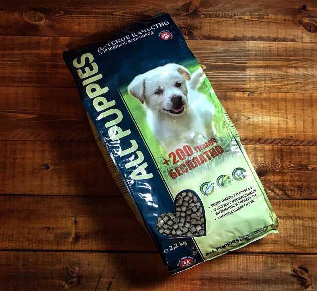 Продам Корм для щенков All Puppies 2.2кг+200гр