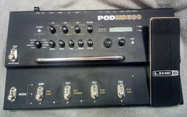 Продам гитарный процессор Line 6 POD HD300