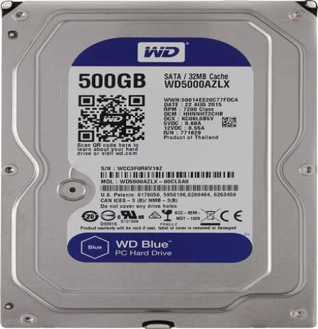 Продам Жесткий диск  Western Digital Blue 500GB
