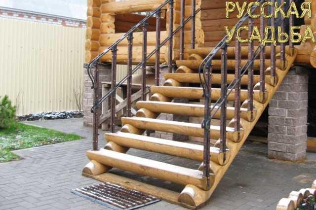 Продам: лестница из оцилиндрованного бревна