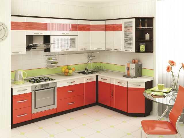 Продам Кухонный гарнитур оранж (новая)
