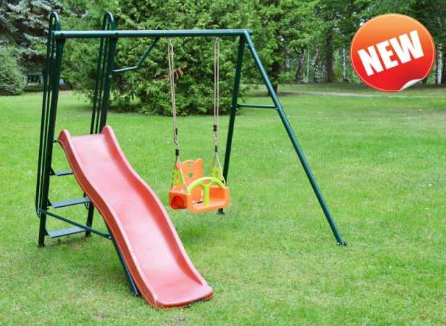 Продам Качели детские садовые с горкой новые