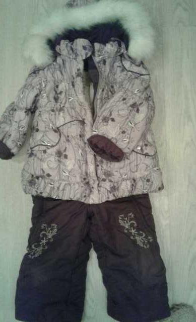 Продам костюм зимний для девочек
