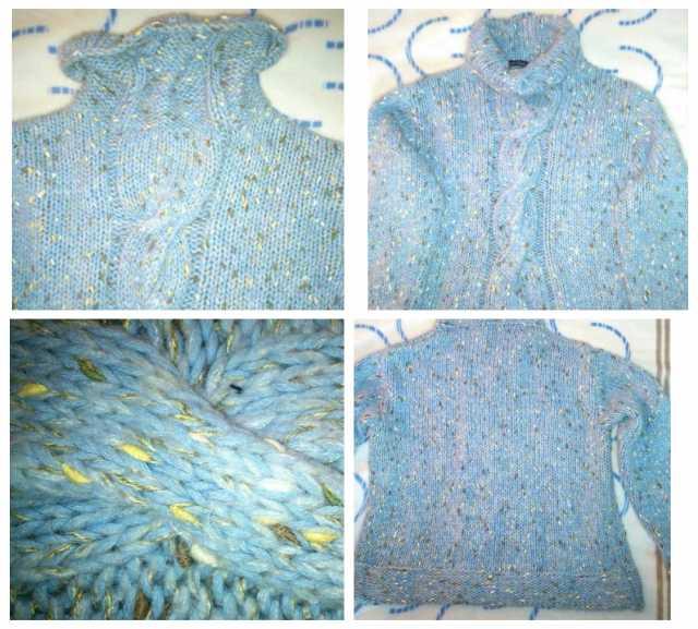 Продам Очень теплый свитер, красивая крупная вя
