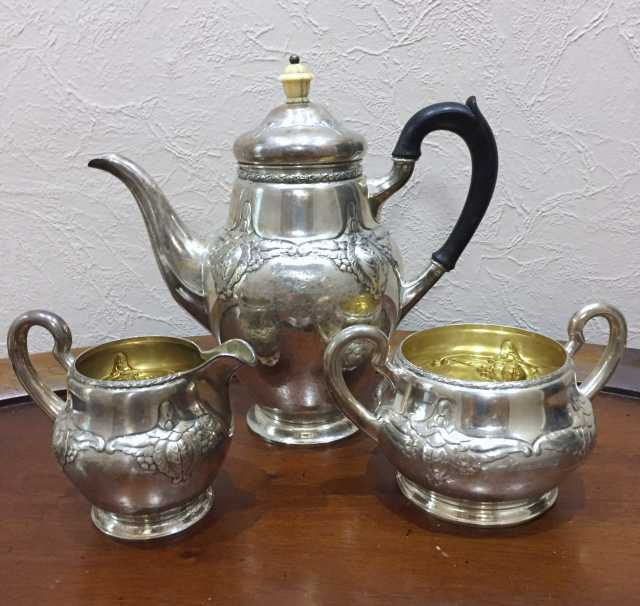 """Продам: Старинный чайный набор из серебра """"835"""""""