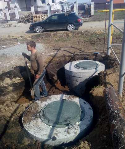 Предложение: Канализация из бетонных колец под ключ.