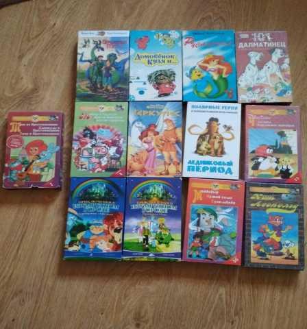 Продам видеокассеты с мультфильмами