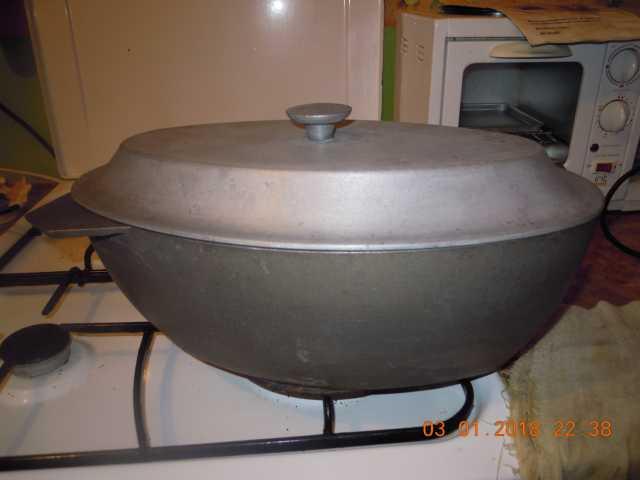 Продам жаровня-утятница из силумина на 4 литра
