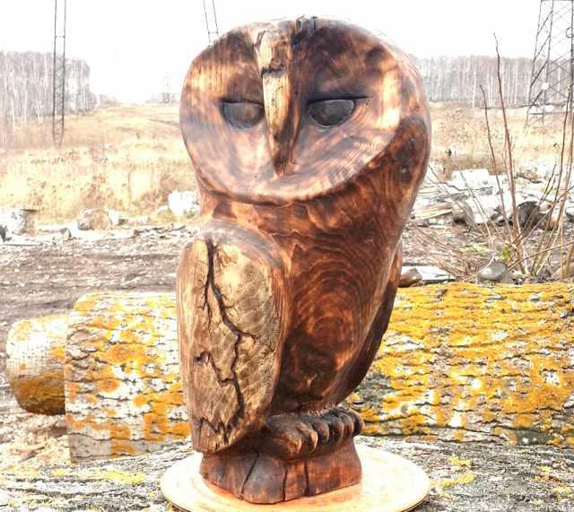 Продам Сова скульптура из дерева