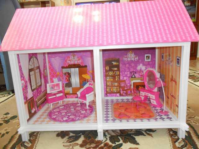 Продам Кукольный дом с двумя комнатами, мебелью