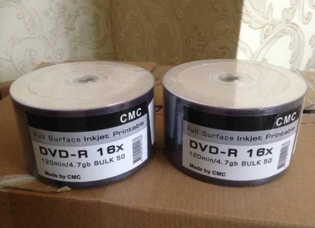 Продам DVD-R диски с поверхностью для печати