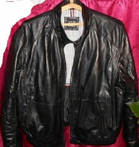 Продам: Кожанная куртка весна осень 5-6хl