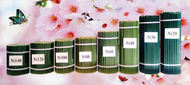 Продам Свечи восковые медовые церковные зелёные