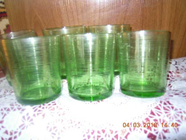 Продам Стаканы из зеленого стекла (люминарс)