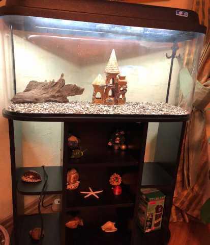 Продам аквариум с подставкой и подсветкой