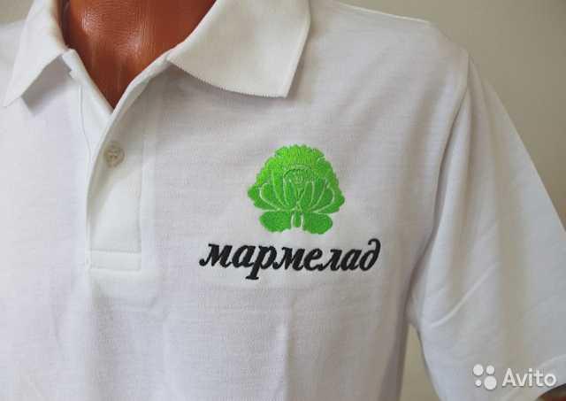Вышивка на футболках логотип