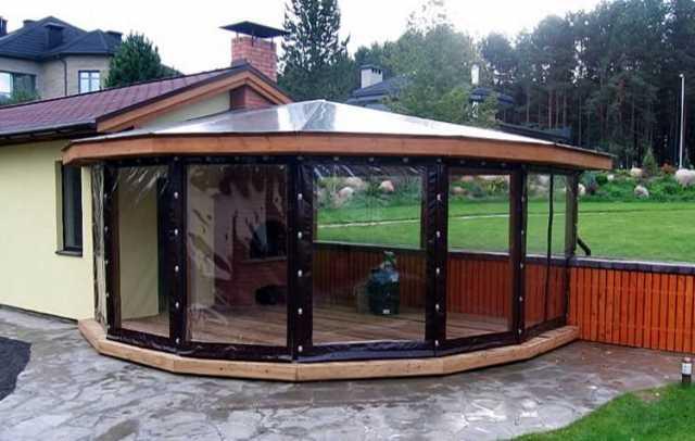 Предложение: Гибкие мягкие окна для кафе беседки