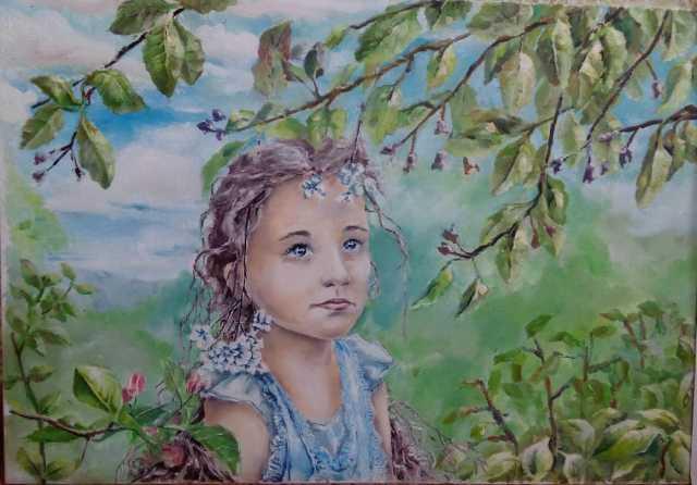 Продам картина маслом (портрет)