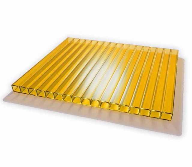 Продам Сотовый поликарбонат желтый
