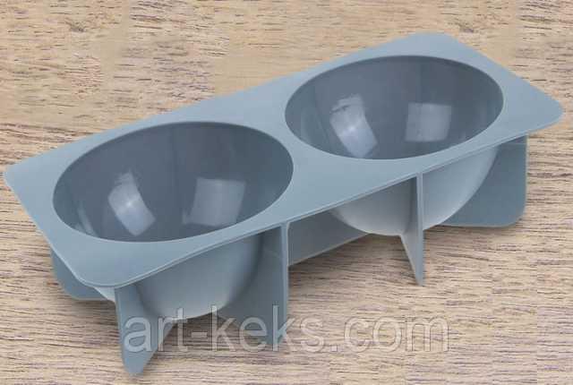 Продам Форма силиконовая 2 ячейки. Полусферы
