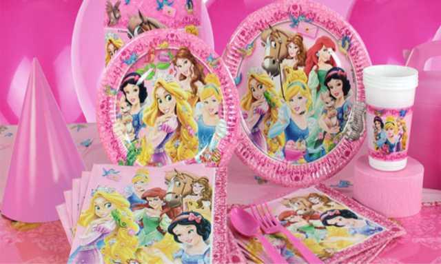 Продам Праздничная посуда Принцессы и животные