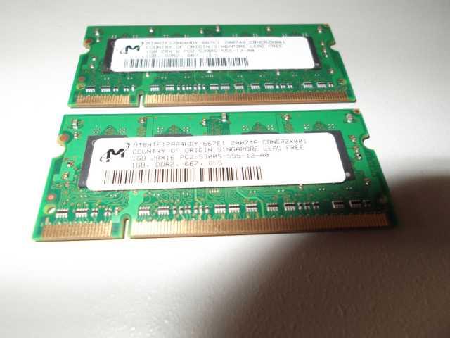 Продам Память для ноутбука, DDR 2, 2 ГБ (2х1ГБ)