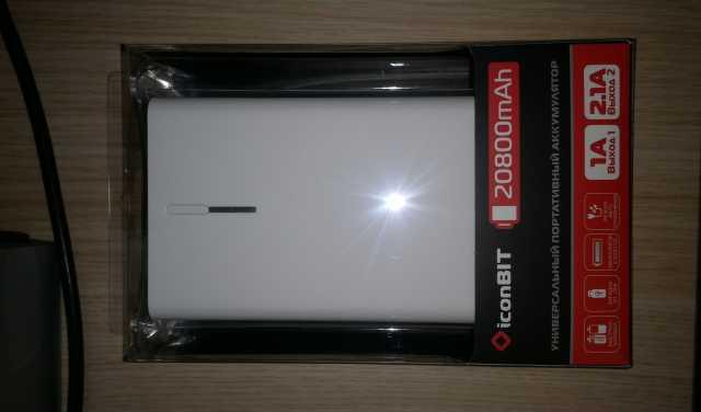 Продам Аккумулятор PowerBank iconBIT FTB20800DX