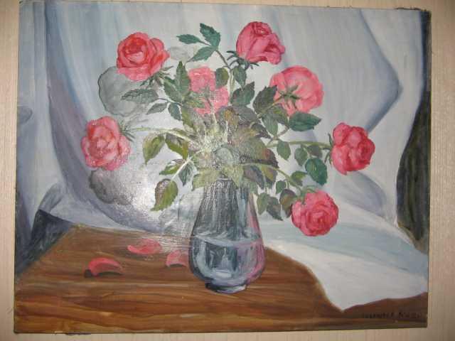 """Продам Картина """" Цветы на окне """""""