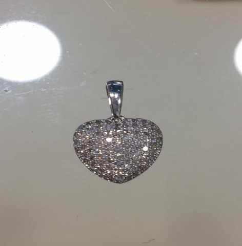 Продам Подвеска из белого золота с бриллиантами