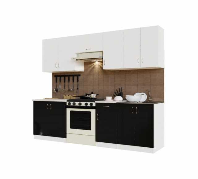 Продам Кухня Санвут ГК2400-5.5_7.2 Белый/Черный