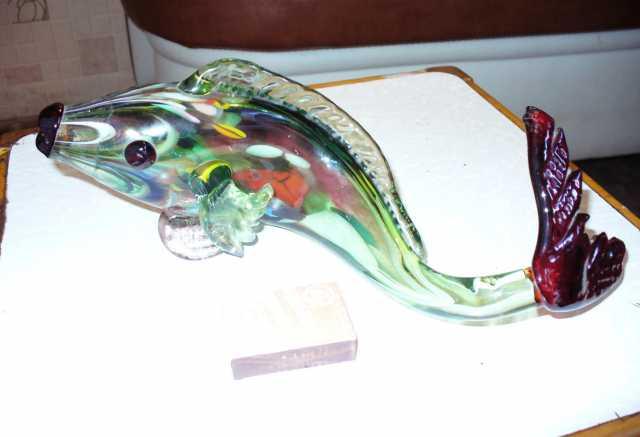Продам Продам статуэтку рыба цветное стекло ССС
