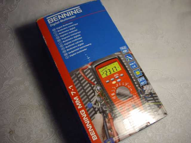 Продам Цифровой Мультиметр  BENNING MM 7-1  Гер