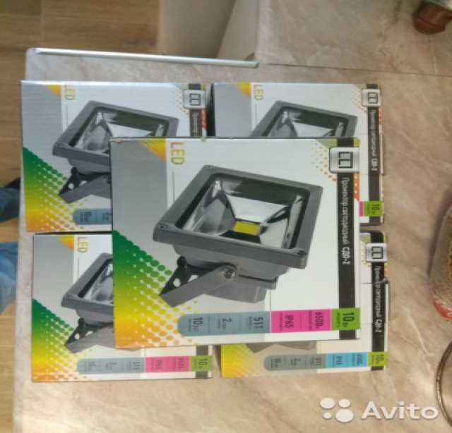 Продам Прожектор светодиодный сдо-2 10 Вт 5шт
