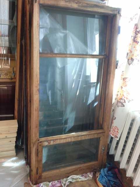 Отдам даром деревянные окна со стеклами