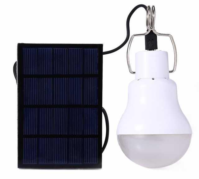 Продам лампу + зарядку (солнечные, для туристов