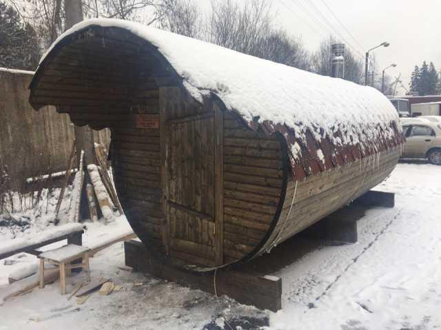 Продам Монтаж бани-бочки, бани-танки в СПб