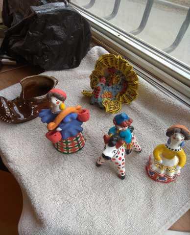 Продам Дымковская игрушка. 4 фигурки.