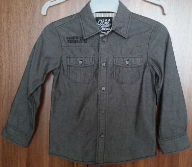 Продам Рубашка на мальчика темно-серая