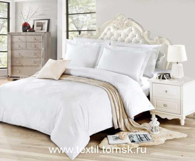 Продам Белое жаккардовое постельное белье