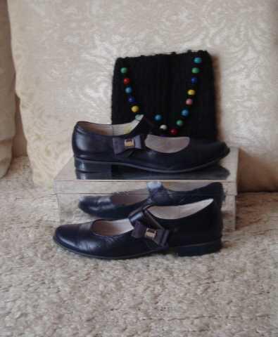 Продам туфли кожаные детские размер 37